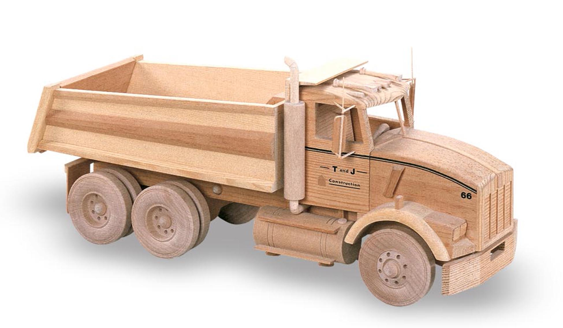 Wooden Trucks Toys And Joys : Patterns kits trucks the dump truck