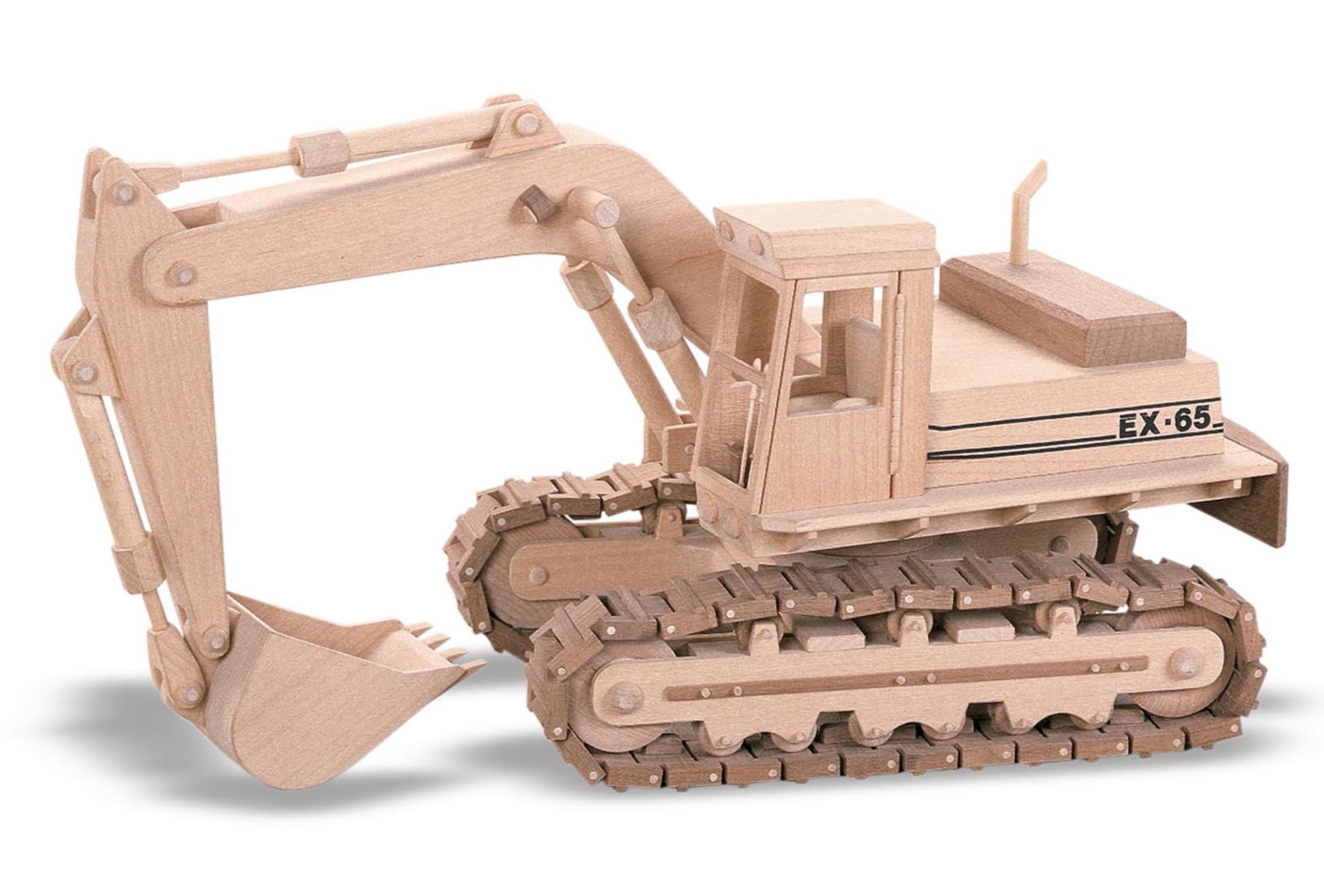 Wooden Trucks Toys And Joys : Patterns kits construction the excavator