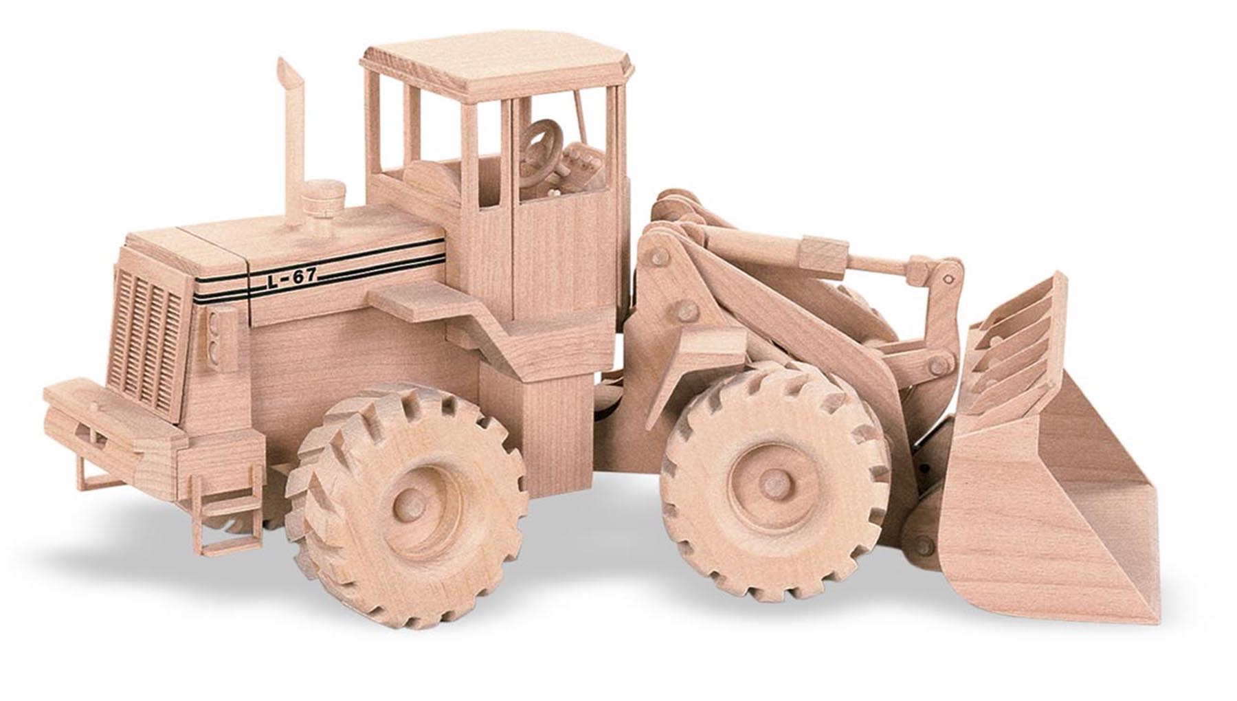 Wooden Toys Toys For Joys : Patterns kits construction the front end loader