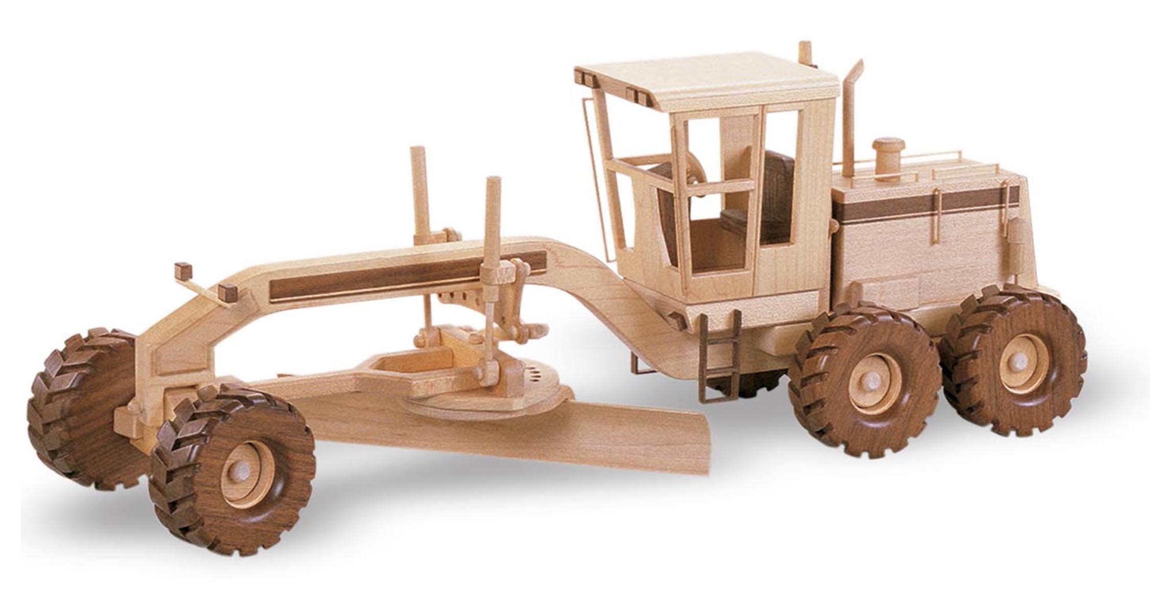 Wooden Trucks Toys And Joys : Patterns kits construction the road grader