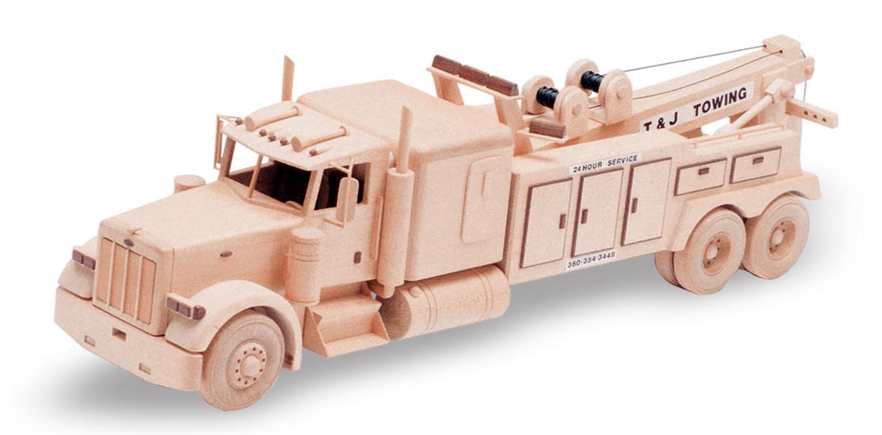 Wooden Trucks Toys And Joys : Patterns kits trucks the big tow truck