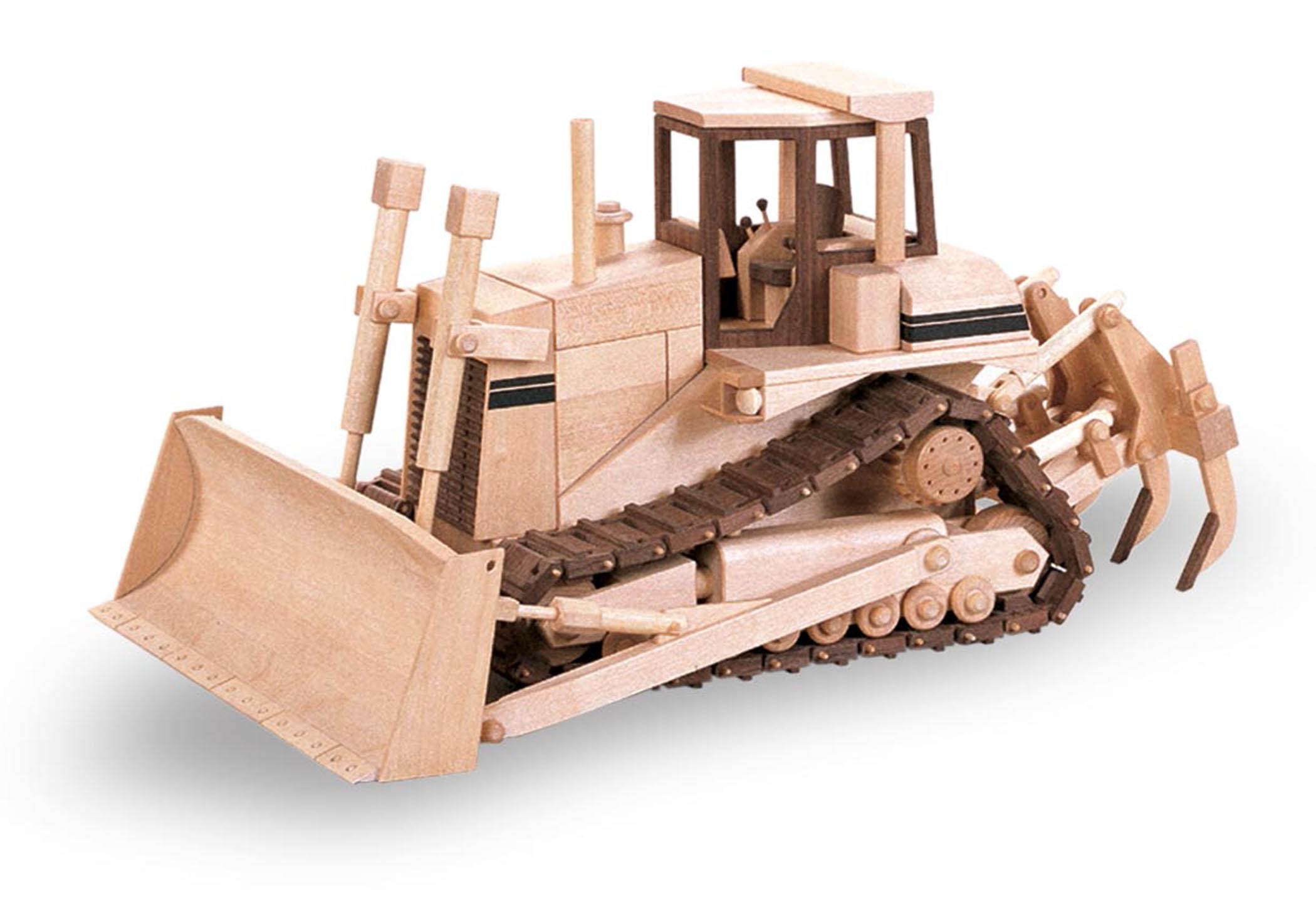 Wooden Trucks Toys And Joys : Patterns kits construction the hi track dozer