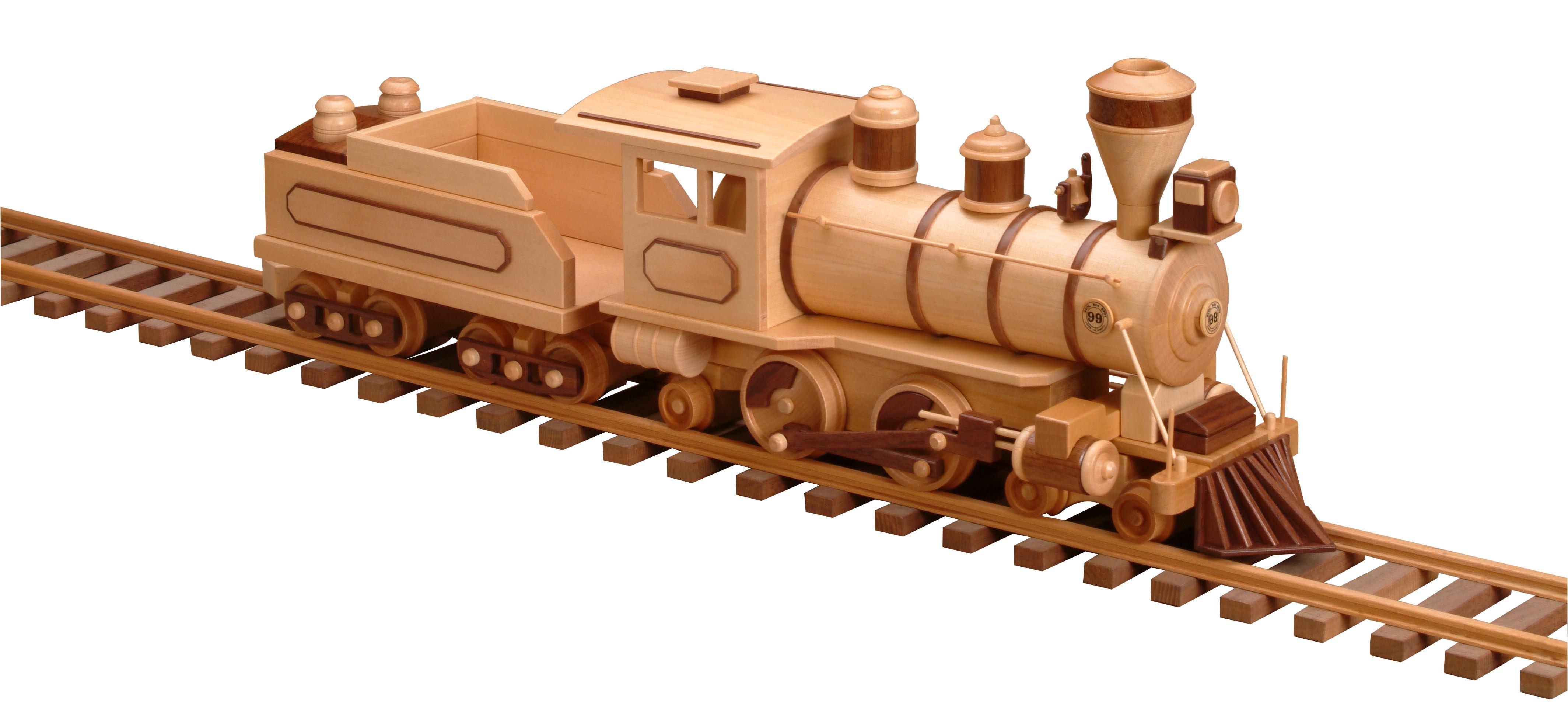 patterns & kits :: trains :: 99 - locomotive & tender (wood